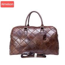 Men genuine leather travel…