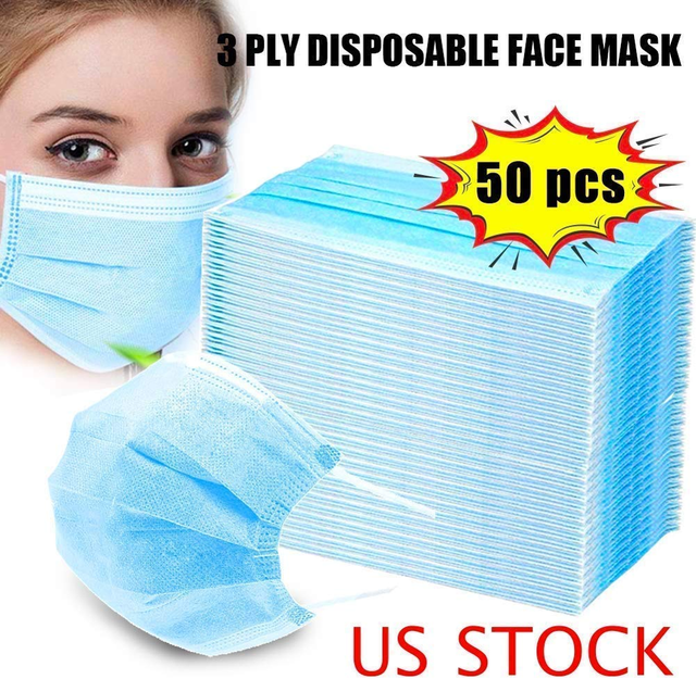 100Pcs Profession Disposable Mask Surgical 3-Ply N95 KF94 Nonwoven Disposable Elastic Mouth Soft Breathable Flu Hygiene Face 1