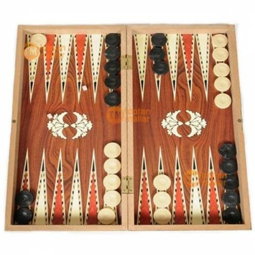 Wooden Skill Game Backgammon Turkish Ottoman Board Game Large Size 48x48 Size Custom Design Backgammon