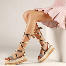 Fashion Women's Platform Sandal Shoes Summer Ladies Gladiator High Heel Shoes Woman Wedding Sandals Lady Wedges Party Pumps Shoe цены онлайн
