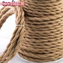 2*0,75 Cable trenzado de Cable textil de cuerda Vintage Cable eléctrico Retro lámpara colgante línea Vintage 1/2/5/10M