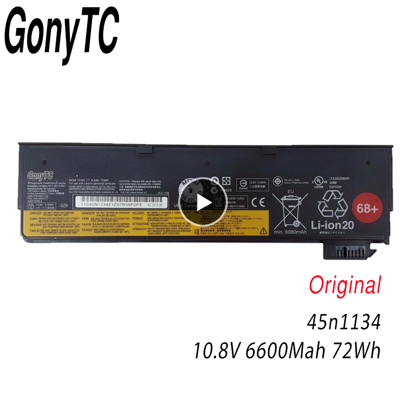 GONYTC 45N1134 10.8V 72wh X240 New Original <font><b>Battery</b></font> for <font><b>Lenovo</b></font> ThinkPad T440S <font><b>T440</b></font> X240 S440 S540 45N1125 45n1135 68+ image