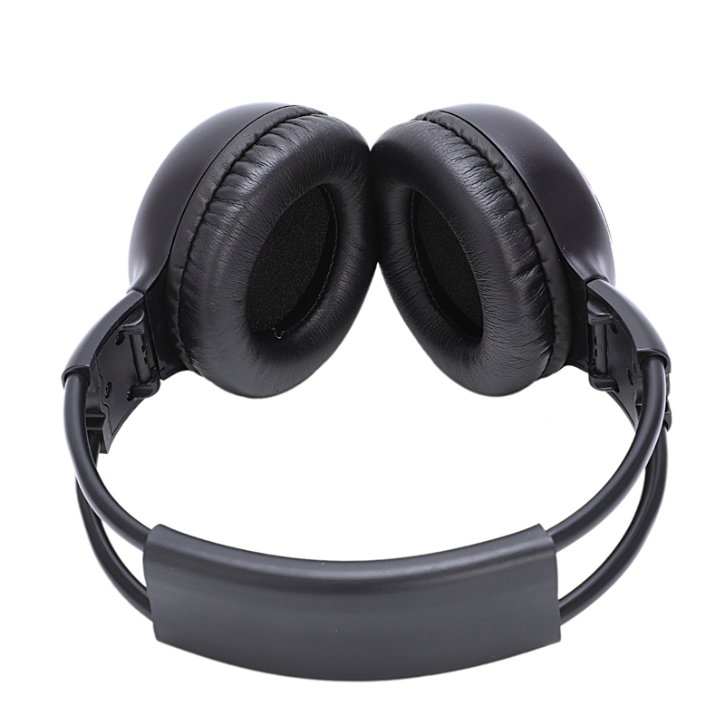 Car Infrared Headphone Car DVD Video Headset Wireless Headphone Dual Channel Infrared Earphone IR Car DVD Player Headrest Black
