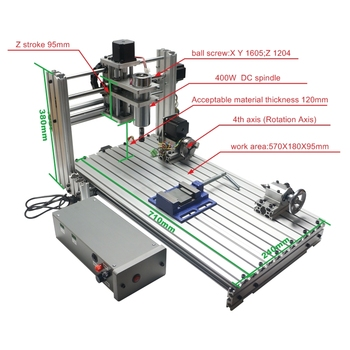 Mini CNC Machine DIY 6020 Metal CNC Router Engraver USB 400w Spindle Iron Wood Pcb Carving Machine for  Jewellery 2