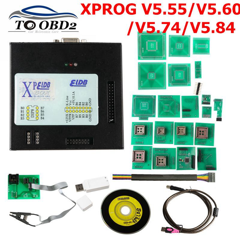 New Arival <font><b>XPROG</b></font> <font><b>5.84</b></font> Black Metal Box <font><b>XPROG</b></font> M V5.84 Auto ECU Programmer Update Version <font><b>Xprog</b></font>-M <font><b>Xprog</b></font> V5.55 V5.60 V5.84 image