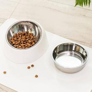 Image 5 - Xiaomi mi home pet tilt basin double liner tilt design non slip grip health material cat dog universal pet dog bowl