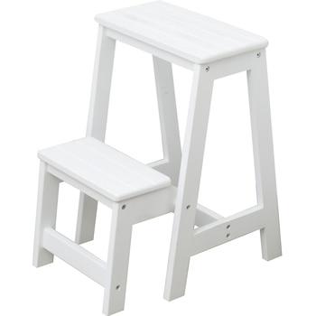 Household multi-function folding ladder stool imported solid wood ladder indoor ascending ladder chair rack ladder