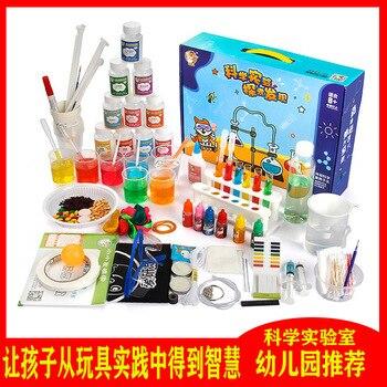 Créatif magique équipement chimique expérience ensemble enfants amusant Science poche laboratoire jouet bricolage Science laboratoire
