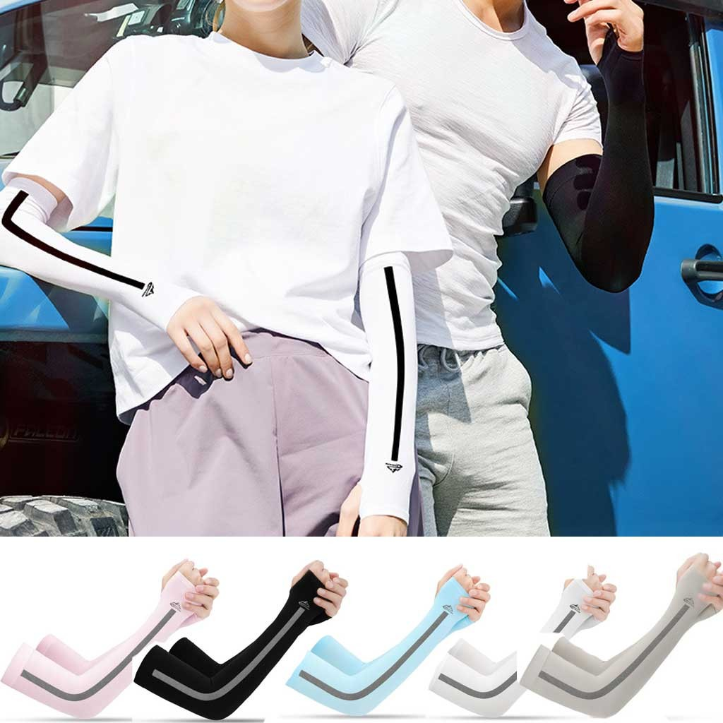 Unisex Sport Arm Sleeves Glovers Sun Protect Basketball Sunscreen Riding Sleeve Protect Your Hands Guantes Rekawiczki перчатки