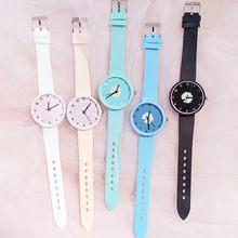 Montre-bracelet Daisy pour femmes, montre-bracelet de luxe, gelée transparente, analogique, Quartz, cristal, tendance décontracté