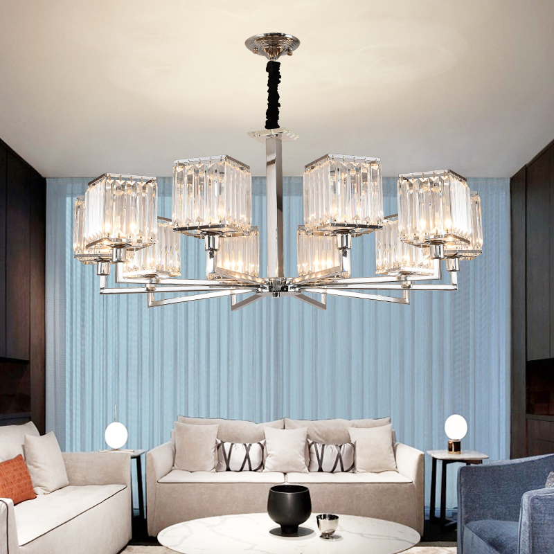 Novelty Crystals LED Chandelier Lighting Fixture Nordic Luxury Large Living Room Hotel Room Decor Hanging Lamp Light Fixtures