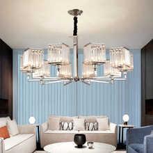 Novelty Crystals LED Chandelier Lighting Fixture Nordic Luxury Large Living Room Hotel Room Decor Hanging Lamp Light Fixtures
