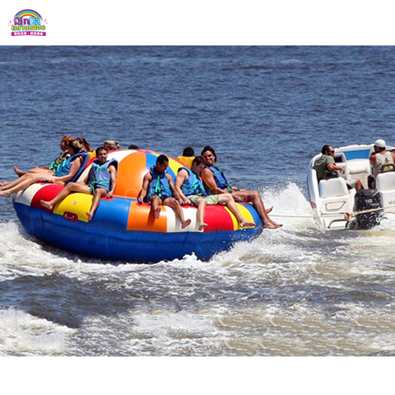 Inflatable Flying Disco Boat/Inflatable Water Towable Tube Disco Boat