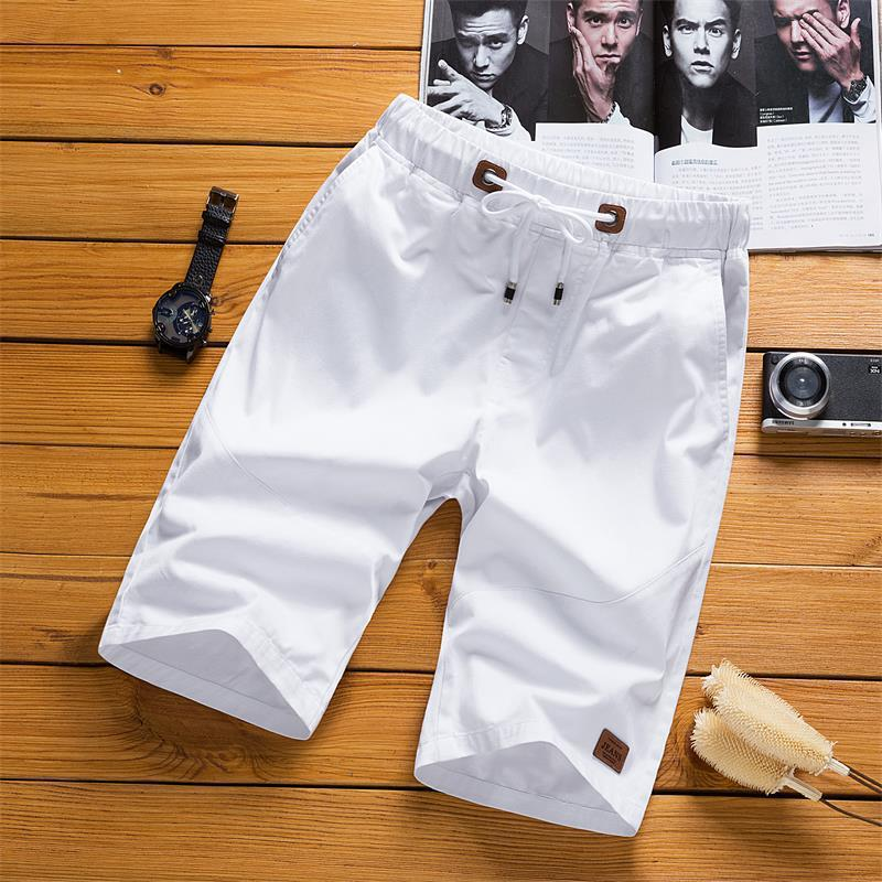 Summer Shorts Men Five 5 Pants White Summer Casual Pants Men's Korean-style Beach Shorts Men's Sports Large Trunks Fashion