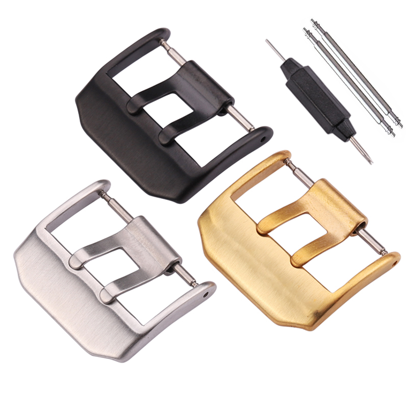 Stainless Steel Watch Buckle 23mm Silver Gold Black Metal Clasp For Luminox Watchbands Strap Watch Accessories