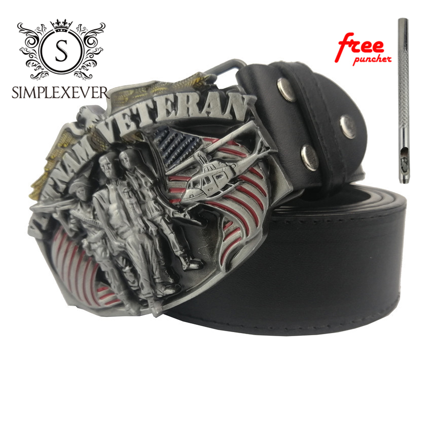 Drop Shipping Men's Belt Buckle In Silver Plated USA Metal Belt Buckle With Leather Belt As Jeans Accessories