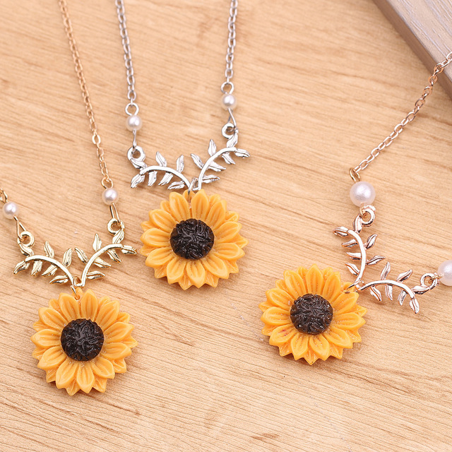 2020 New Women Multicolor Necklace Love Gift Custom Sunshine Necklace Open Locket Sunflower Birthday Gift Jewelry Pendant