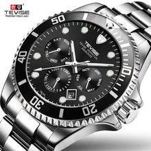 Tevise Automatic Mechanical Watch Men Sports Watches Luxury Brand Waterproof Diving Wristwatches Relogio Masculino Gift box winner men luxury brand roman number skeleton stainless steel watch automatic mechanical wristwatches gift box relogio releges