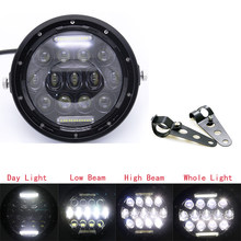 Universal 7 Inch Motorcycle LED Headlamp Moto Scooter 7