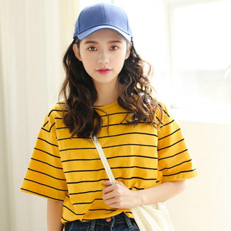 Harajuku Women T-shirts Letter Print Hip Hop Loose T-shirt Girls Student Streetwear Lady Tops Tees ins Korean Punk O-Neck size