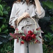 Букет невесты из красных роз jaevini круглые искусственные цветы