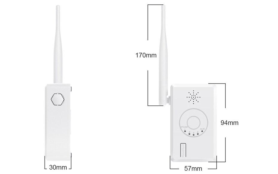 Extensor de rango WiFi para sistema de cámaras de seguridad WiFi inalámbrico Misecu - 3