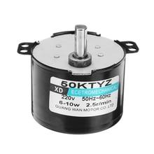 50Ktyz Ac220V 10W 0.5A 2.5R/ Min Permanent Magnet Synchronous Motor Ac Gear Reduction Cw / Ccw