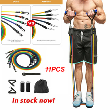 11pcs/set Hot Sale Pull Rope Fitness Exercises Resistance Bands Latex Tubes Pedal Excerci