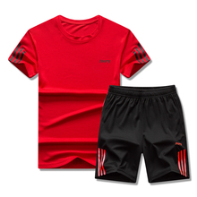 Men Short-sleeved Shorts Two-piece Sportswear Quic