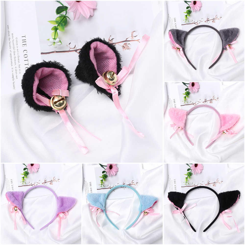1PC Anime del Costume di Cosplay Gatto Orecchio Pelliccia Dei Capelli di usura Bella Night Party Club Bar Decorare Fasce Peluche Hairband Per ragazze