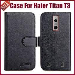 На Алиэкспресс купить чехол для смартфона hot! haier titan t3 case 5.5дюйм. 6 colors flip soft leather phone wallet cover stand function case credit card slots