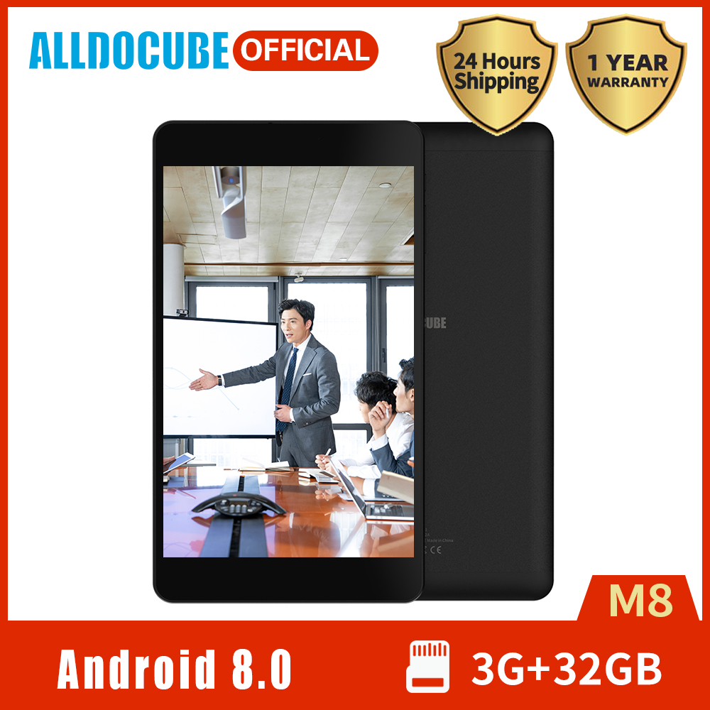2020 High Quality ALLDOCUBE M8 Tablet 8 Inch IPS Display MTK X27 Deca Core 3GB RAM 32GB ROM Android 8.0 4G Phone Dual WiFi