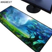 Mrgbest Фантазия зеленый лес коврик для мыши игровой плеер Большой