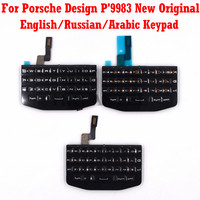 For BlackBerry Porsche Design P'9983 P9983 original New Mobile Phone Housing English / Russian Keypad Cover Keyboard Case