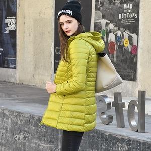 Image 2 - Manteau extensible pour femmes, veste bouffante légère à capuche, mince, chaud, pour Sports de plein air, voyage, 7XL, Parka
