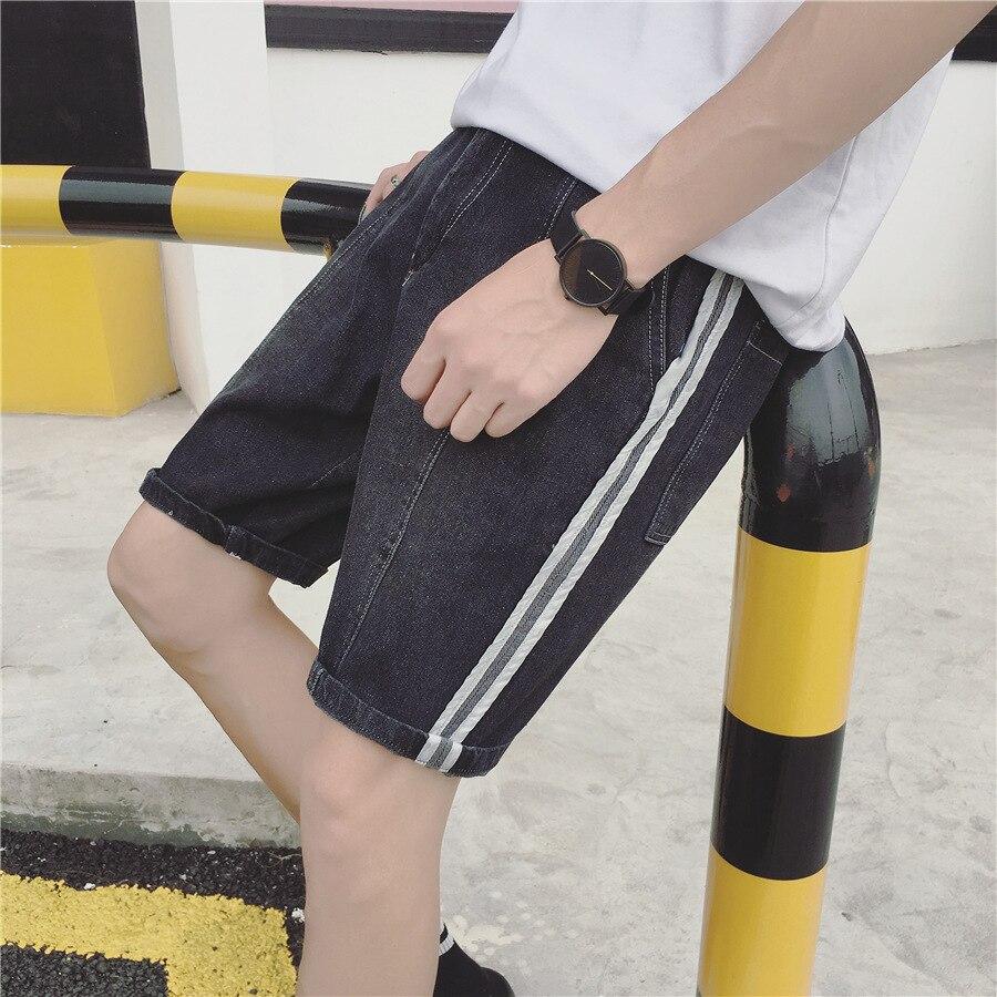 Summer New Style Jeans Men's Slim Fit Men Casual Versatile Shorts Teenager Denim Shorts Male Fifth Pants Fashion