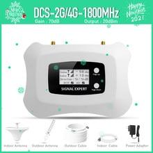 Impulsionador móvel do sinal do lcd dcs 1800mhz com jogo da antena de yagi amplificador do telefone celular do repetidor 2g 4g
