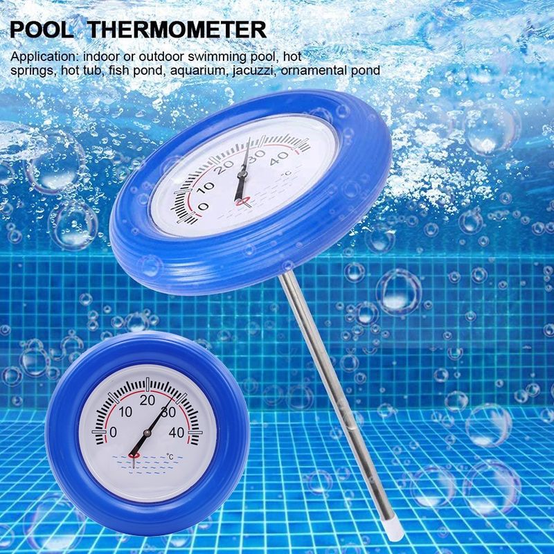 Floating Pool Thermometer Large Centigrade Dial Plate Water Temperature Gauge with String for Spa Tub Pond GHS99