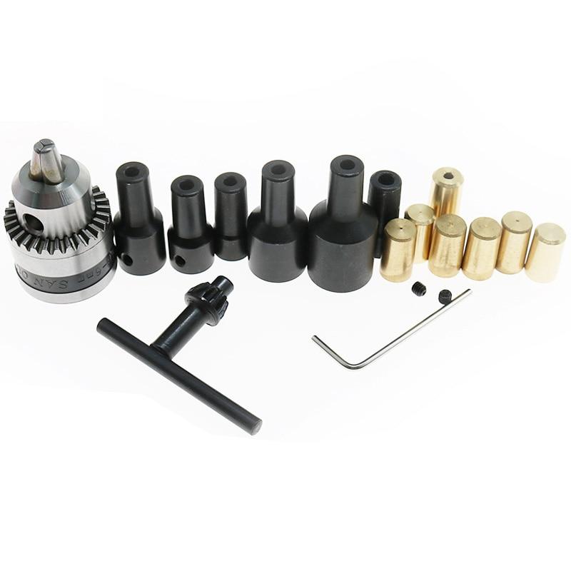 1PCS 3.17mm/4mm/5mm/6mm/7mm/8mm/10mm Motor Shaft Coupler Sleeve Coupling B10 Drill Chuck Taper Connecting Rod