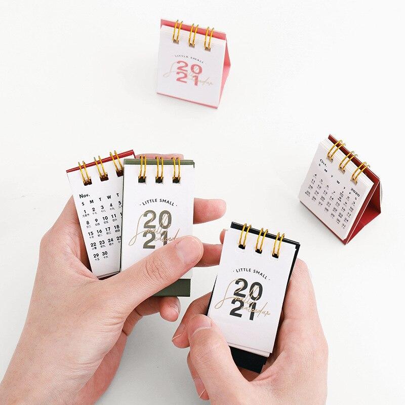 2021 Year Kraft Paper Mini Desk Calendar 3