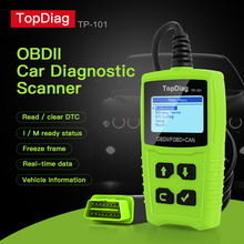 цена на TopDiag Car OBD2 Scanner Code Reader Auto Diagnostic Tool Battery Testing Erase Fault Code EOBD JD101 OBD II And CAN