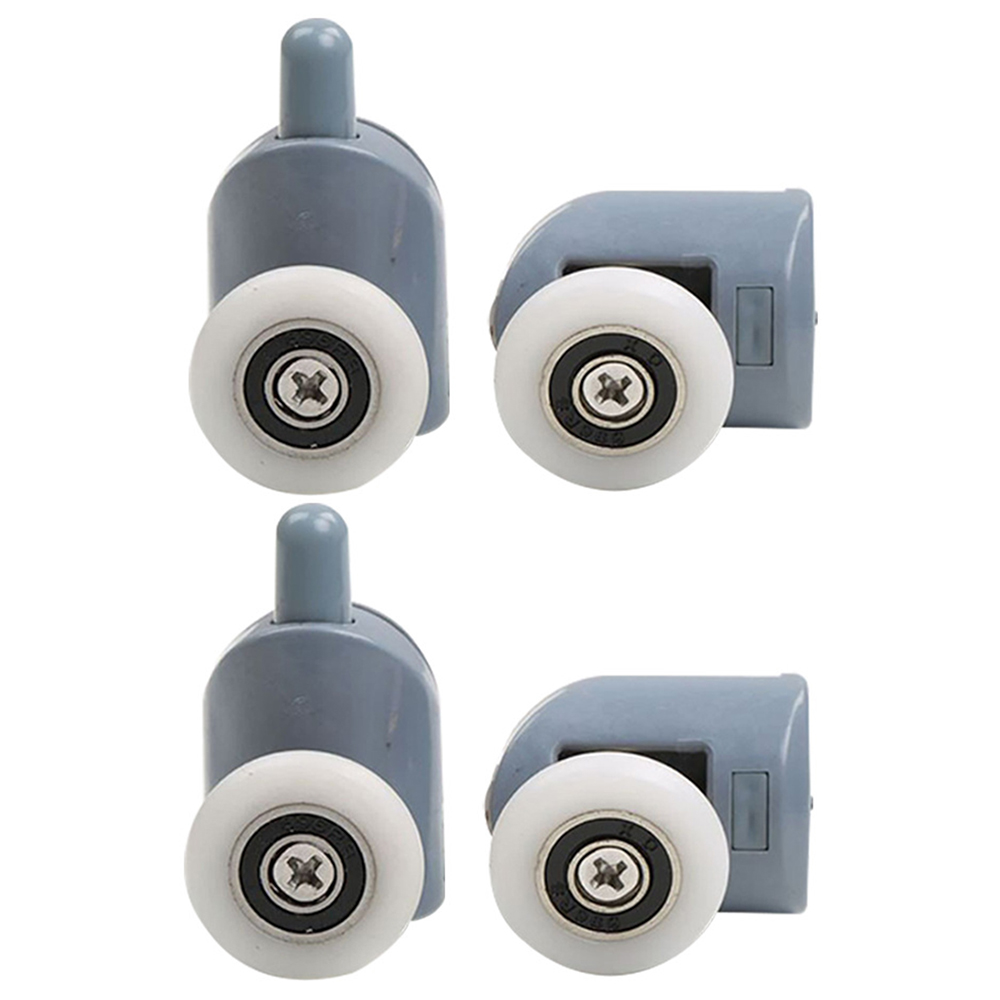 4pcs/set Under 45mm Up Pulley Wheels Bathroom Glass Sliding Aluminum Door Pulley Shower Room Cabin Room Replacement