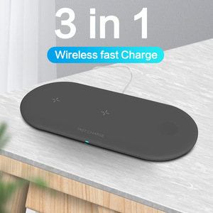 Image 1 - 3 in 1 Portable Wireless Charger for iPhone 11 Samsung S8 Fast Wireless Charging Pad for Apple Watch iWatch 4 3 2 1 for Airpods