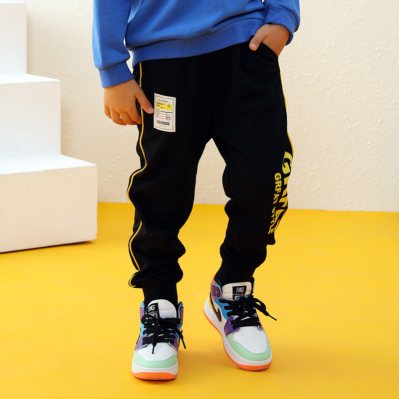 New Kids Boys Girls Pants Sports For 3-10 Yeas Fashion Print Letter Casual Sport Cotton Children Trousers Running Autumn Winter 4