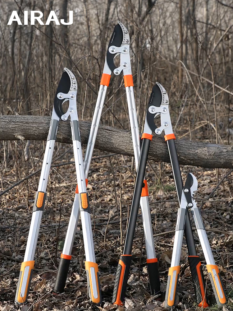 AIRAJ Heavy Pruning Shears Telescopic Ratchet Tree Pruning Shears Garden Branch Pruning Tool Can Trim 7.5cm Diameter Branches