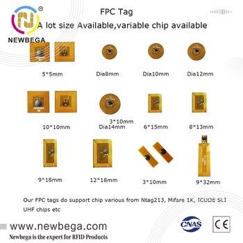 Etiqueta de Micro Chip FPC NFC regrabable Ntag213 puntadas Amiibo Bluetooth, varios...