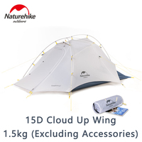 Naturehike 15D Cloud Up 2 Camping Tent 2 Person 1.5kg Ultralight Stable Structure Outdoor Tent Camping Hiking Travel Portable