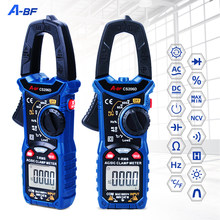 A-BF cs206b/cs206d digital clamp meter multímetro faixa automática tensão atual temp capacitor testertrue rms ac/dc max/min ncv
