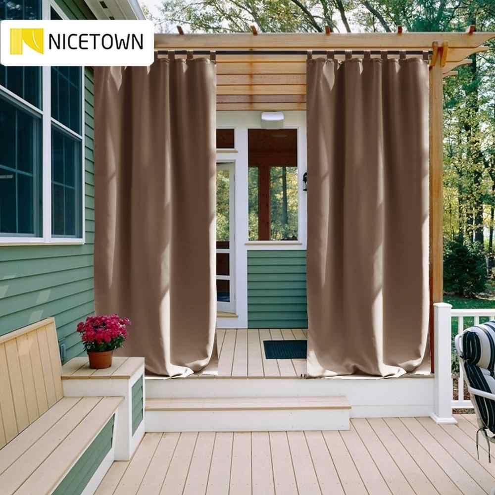 nicetown rideau occultant thermique etanche d exterieur isolation thermique pour patio jardin veranda gazebo