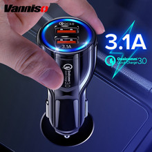 Vanniso QC 3.0 Car USB Charger For Mobile PhoneTablets GPS 3.1A Fast Charging Car-Charger Dual USB Mobile Phone Adapter For Car vanniso qc 3 0 car usb charger for mobile phonetablets gps 3 1a fast charging car charger dual usb mobile phone adapter for car